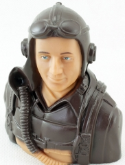 Free Shipping 1/9 1/6 1/51 Scale Figure Pilots Toy Model With Headset Glass for RC Plane Accessories Hobby