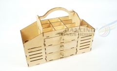 Free Shipping DIY Wooden Toolbox Building Kit Perfect for Tools